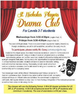 Drama Club after school classes for elementary kids