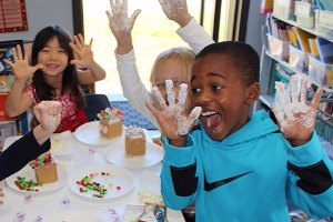Classroom crafts with flour