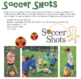 Soccer Shots classes for young children