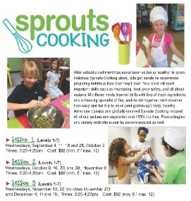 Sprouts cooking for kids