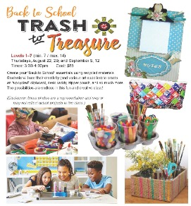 Trash to Treasure arts and crafts by children