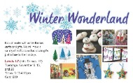 Winter Wonderland arts and crafts classes for kids